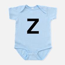 Z Helvetica Alphabet Infant Bodysuit