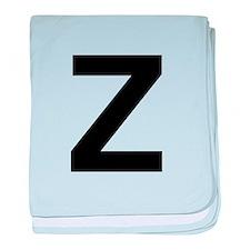 Z Helvetica Alphabet baby blanket