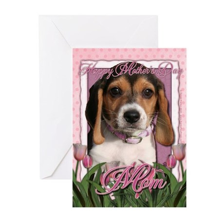 Mothers Day - Pink Tulips Greeting Cards (Pk of 20