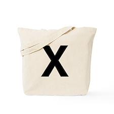X Helvetica Alphabet Tote Bag