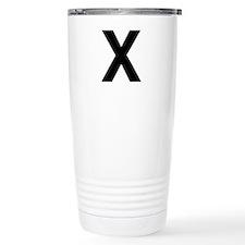 X Helvetica Alphabet Travel Mug
