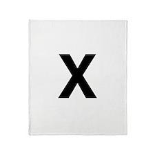 X Helvetica Alphabet Throw Blanket
