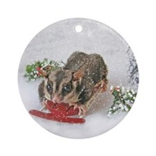 Sledding Ornament (Round)