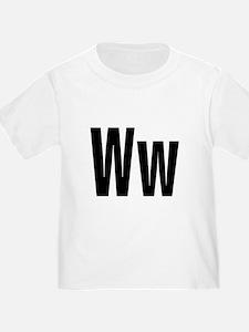 W Helvetica Alphabet T