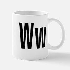 W Helvetica Alphabet Mug