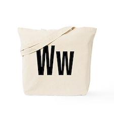 W Helvetica Alphabet Tote Bag