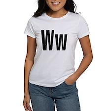 W Helvetica Alphabet Tee