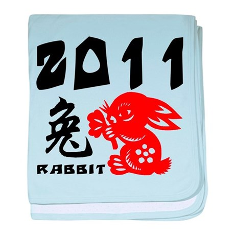 2011 Year of The Rabbit baby blanket