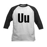 U Helvetica Alphabet Kids Baseball Jersey