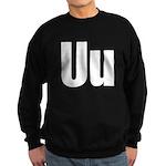 U Helvetica Alphabet Sweatshirt (dark)