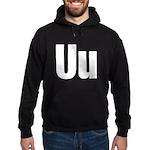 U Helvetica Alphabet Hoodie (dark)
