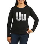 U Helvetica Alphabet Women's Long Sleeve Dark T-Sh
