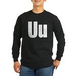 U Helvetica Alphabet Long Sleeve Dark T-Shirt