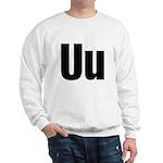 U Helvetica Alphabet Sweatshirt