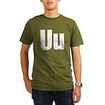 U Helvetica Alphabet Organic Men's T-Shirt (dark)