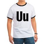 U Helvetica Alphabet Ringer T