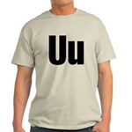 U Helvetica Alphabet Light T-Shirt