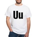 U Helvetica Alphabet White T-Shirt
