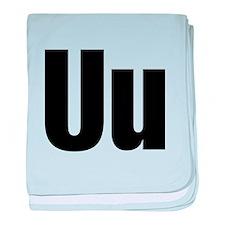 U Helvetica Alphabet baby blanket