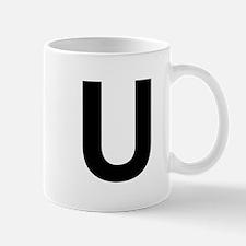 U Helvetica Alphabet Mug