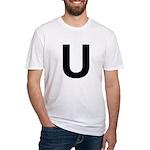 U Helvetica Alphabet Fitted T-Shirt