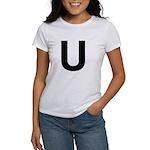 U Helvetica Alphabet Women's T-Shirt