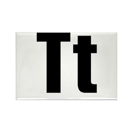 T Helvetica Alphabet Rectangle Magnet (100 pack)