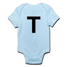 T Helvetica Alphabet Infant Bodysuit