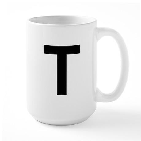 T Helvetica Alphabet Large Mug