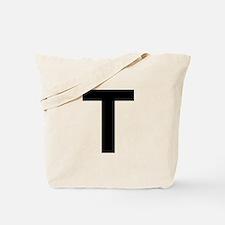 T Helvetica Alphabet Tote Bag