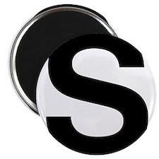 S Helvetica Alphabet Magnet