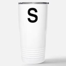 S Helvetica Alphabet Travel Mug