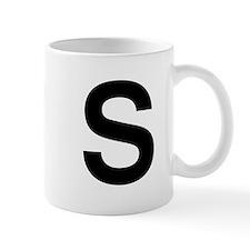 S Helvetica Alphabet Mug