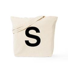 S Helvetica Alphabet Tote Bag