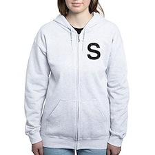 S Helvetica Alphabet Zip Hoodie