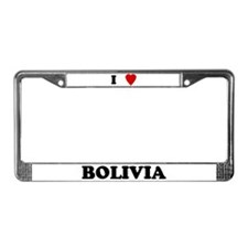 I Love Bolivia License Plate Frame