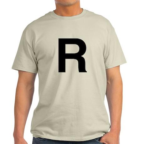 R Helvetica Alphabet Light T-Shirt