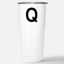 Q Helvetica Alphabet Travel Mug