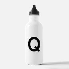 Q Helvetica Alphabet Water Bottle