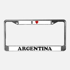 I Love Argentina License Plate Frame