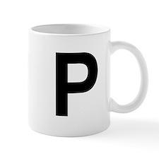 P Helvetica Alphabet Mug