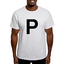 P Helvetica Alphabet T-Shirt