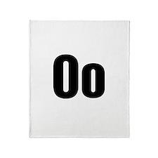 O Helvetica Alphabet Throw Blanket