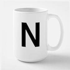 N Helvetica Alphabet Large Mug