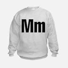 M Helvetica Alphabet Jumper Sweater