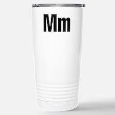 M Helvetica Alphabet Travel Mug