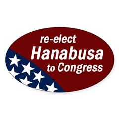 Re-elect Colleen Hanabusa bumper sticker
