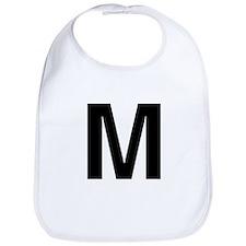M Helvetica Alphabet Bib