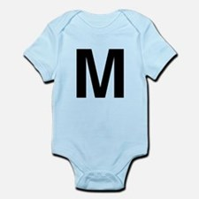 M Helvetica Alphabet Infant Bodysuit