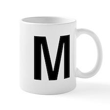M Helvetica Alphabet Mug